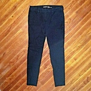 Old Navy Size 4 Pants Pixie Mid Rise Black Pockets